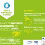 Expertises pour la Plan d'Investissement d'Avenir «Ville durable & solidaire»
