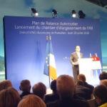 Visite de François Hollande sur le chantier de l'autoroute A9 dans les Pyrénées-Orientales