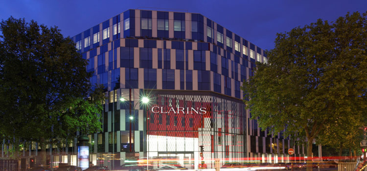 Construction de l'immeuble Clarins