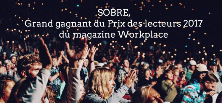 La start-up SOBRE élue prix des lecteurs 2017!